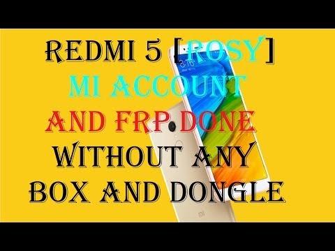 Redmi 5 [Rosy] Mi Account frp without any box