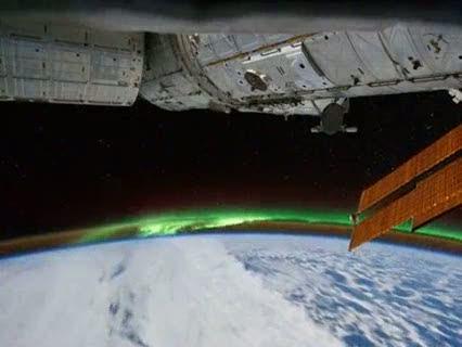 Ver vídeo  'La ISS capta la aurora austral desde el espacio'