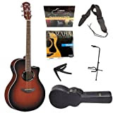 Yamaha APX500II Acoustic-Electric Guitar in Dark Red Burst with Yamaha HC-AG2 APX Hardshell Guitar Case, Guitar...