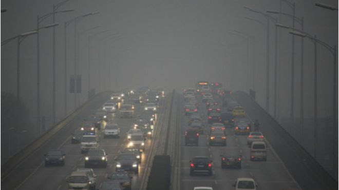Contaminación en Pekín, China