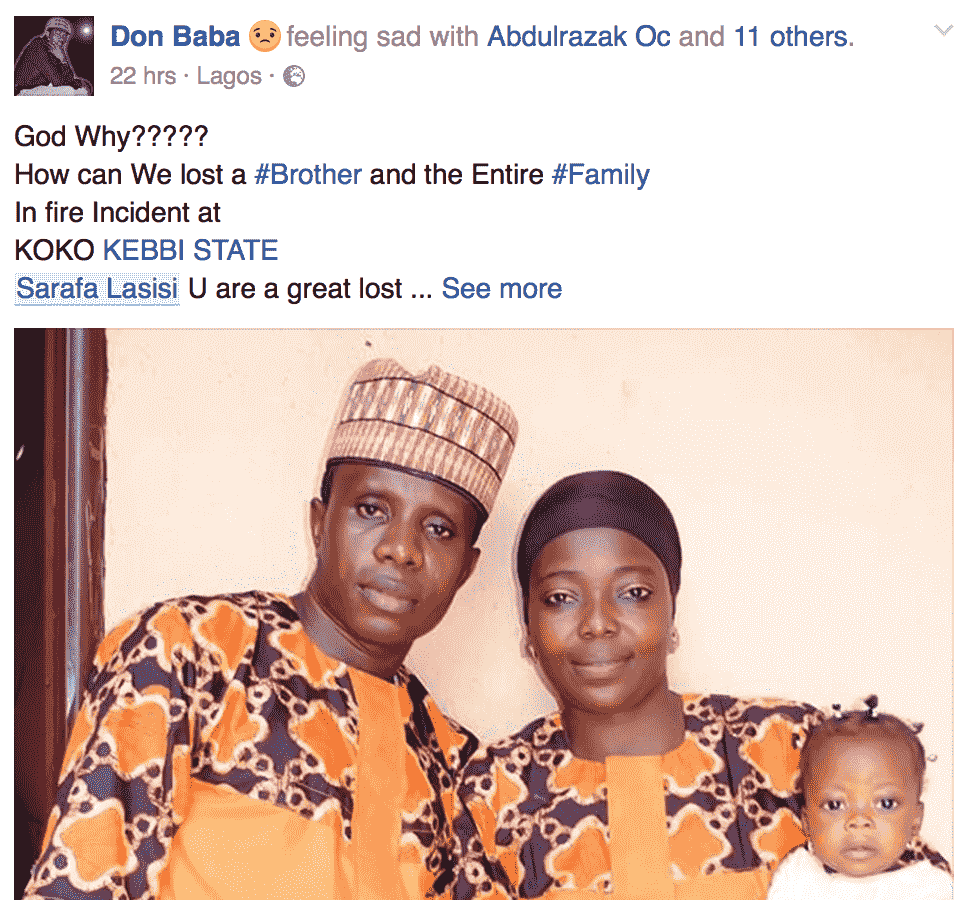 Fire Kills Family Of Five In Kebbi State (photo)