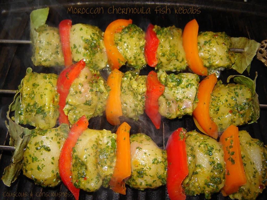 Moroccan Chermoula Fish Kebabs 1