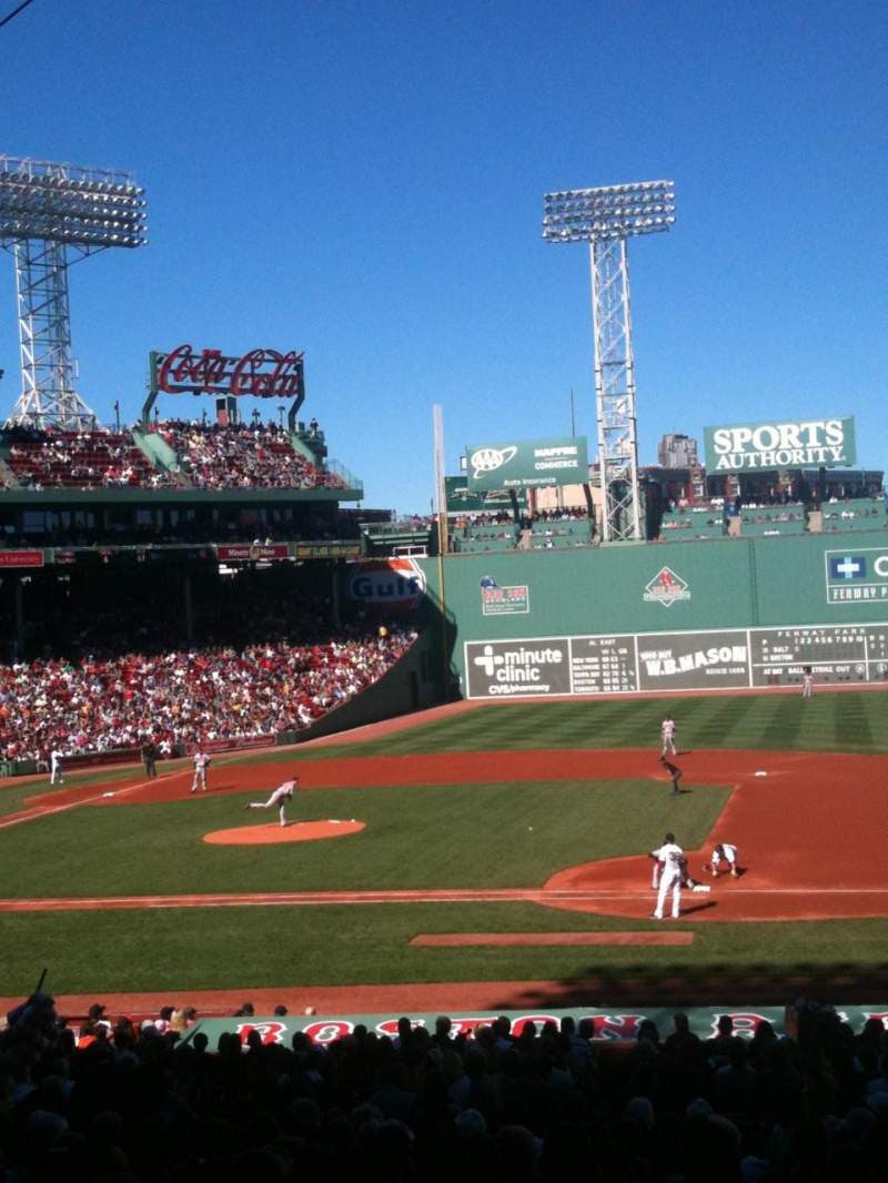 Fenway Park, section Grandstand 14, row 3 - Boston Red Sox vs ...