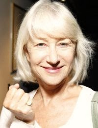 Helen Mirren wearing a signet ring