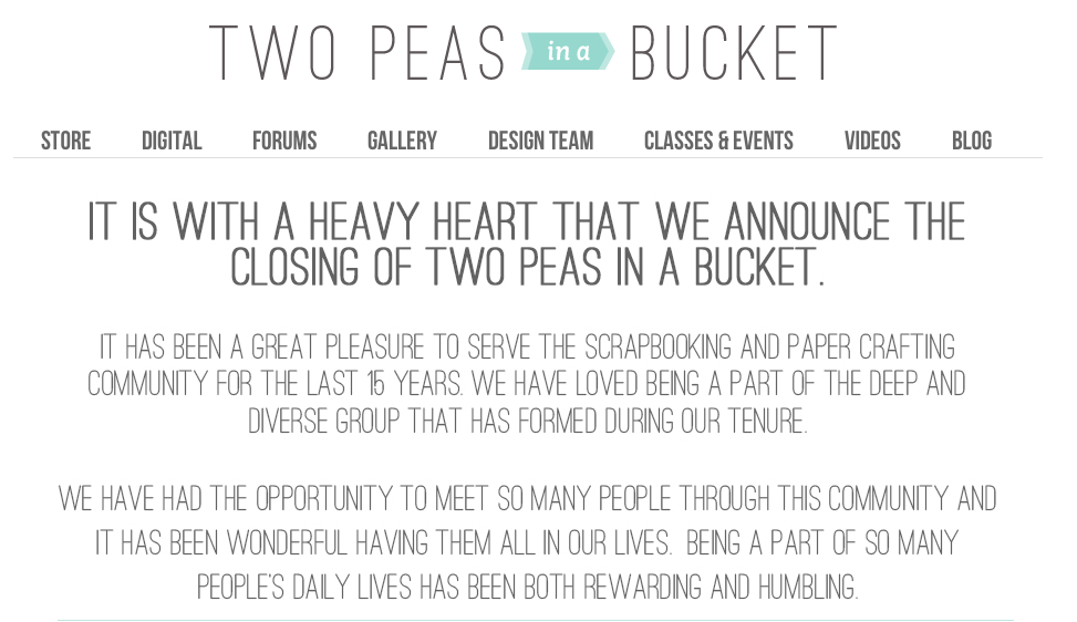 Two Peas in a Bucket closing image