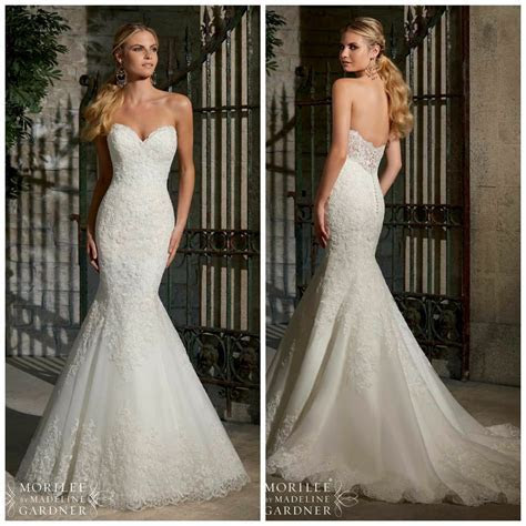 Stunning 2713 Mori Lee Wedding Dress for Sale   Ivory lace