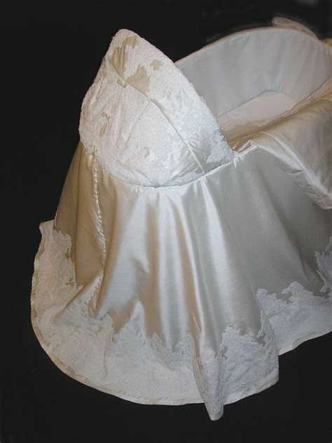 Turn wedding gown into bassinet skirt??   To do   Wedding