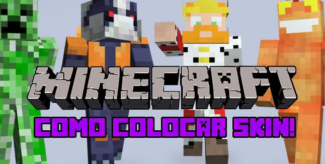 Como colocar SKIN no Minecraft!