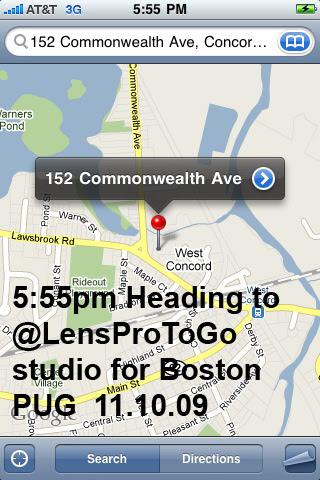 iPhone Google Map