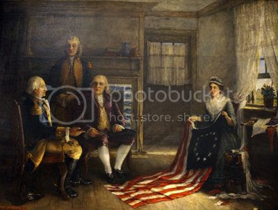 Betsy Ross sewed the Star-Spangled Banner