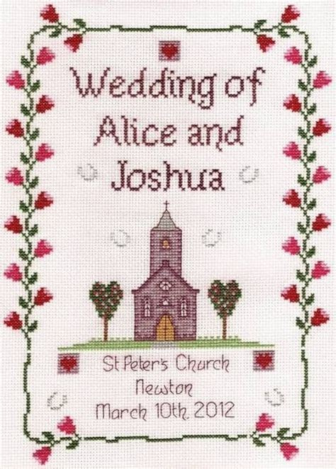 1000  images about Wedding cross stitch on Pinterest