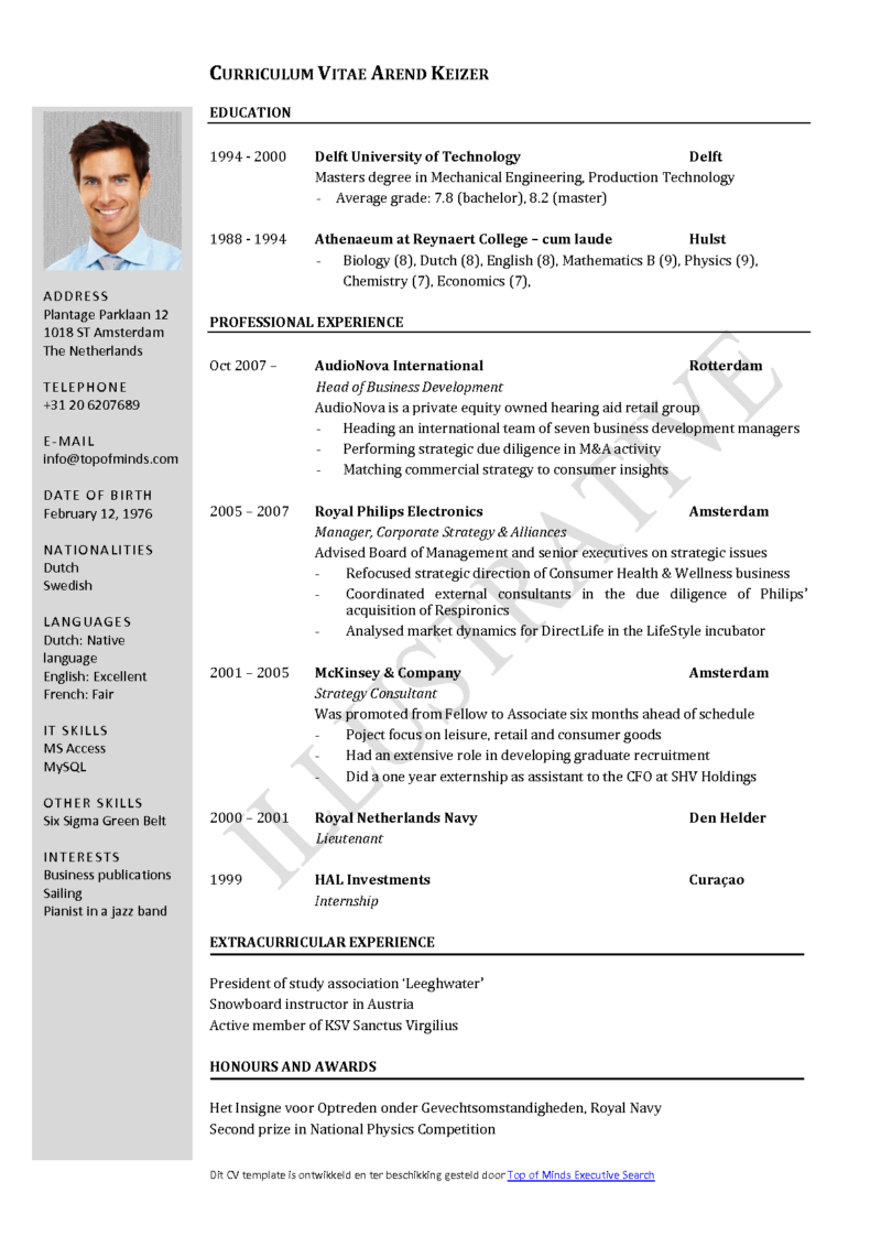 Canadian Cv Format Pdf Download Best Resume Examples