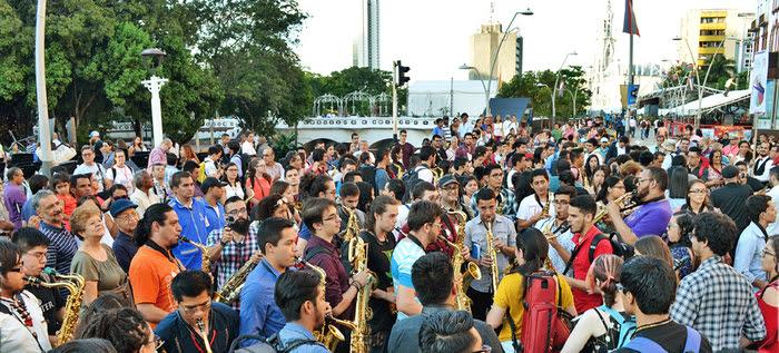 Saxofonistas deleitaron a los caleños en el cierre del segundo Festival Internacional de Saxofón
