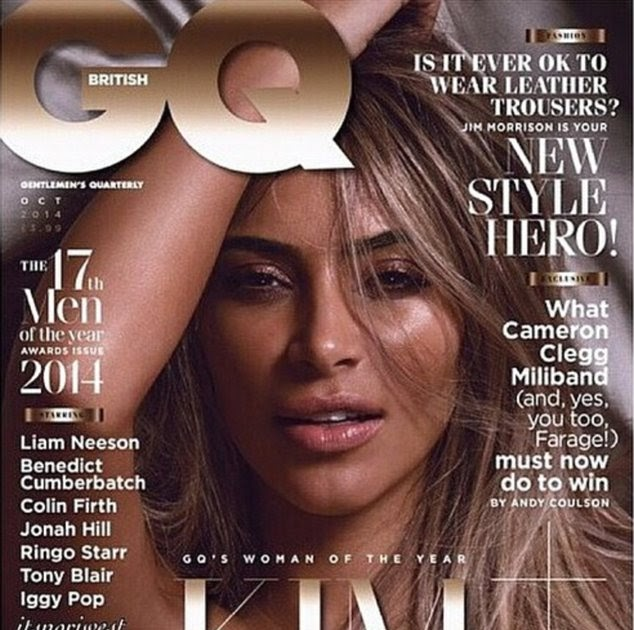 Kim Kardashian Covers Britains GQ In The Nude, Picks Up