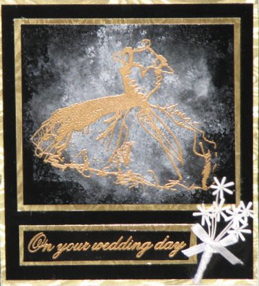 Metal Mixative Wedding Card
