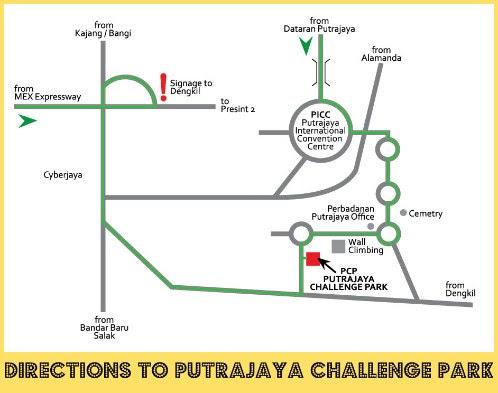 How to get to Putrajaya Challenge Park