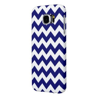 Navy and White Zigzag Samsung Galaxy S6 Cases