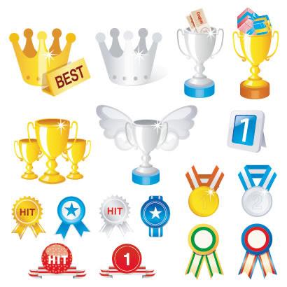 王冠トロフィー金メダルのイラストaieps ベクタークラブ