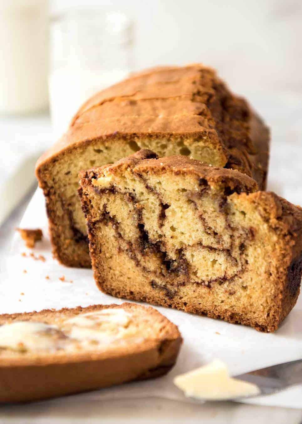 Easy Cinnamon Swirl Quick Bread   RecipeTin Eats