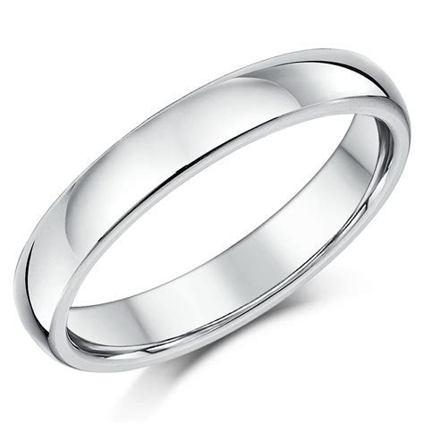 4mm Silver Super Heavy Weight Court Shape Wedding Ring
