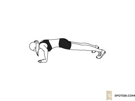 ankle tap push ups fitness workout guide exercise