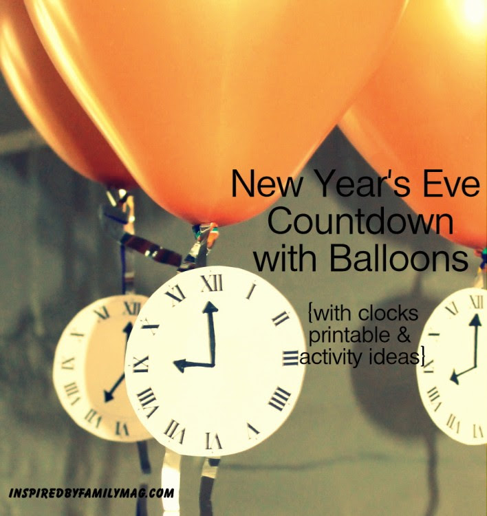 New Years Eve Countdown With Balloons Inspired By Family