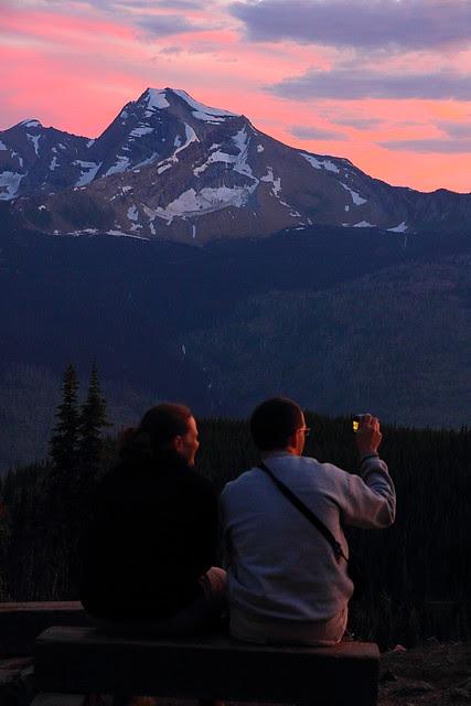 IMG_3232 Visitors Enjoying Sunset from Granite Park Chalet