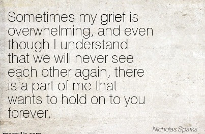 Sometimes My Grief Is Overwhelming And Even Through I Understand