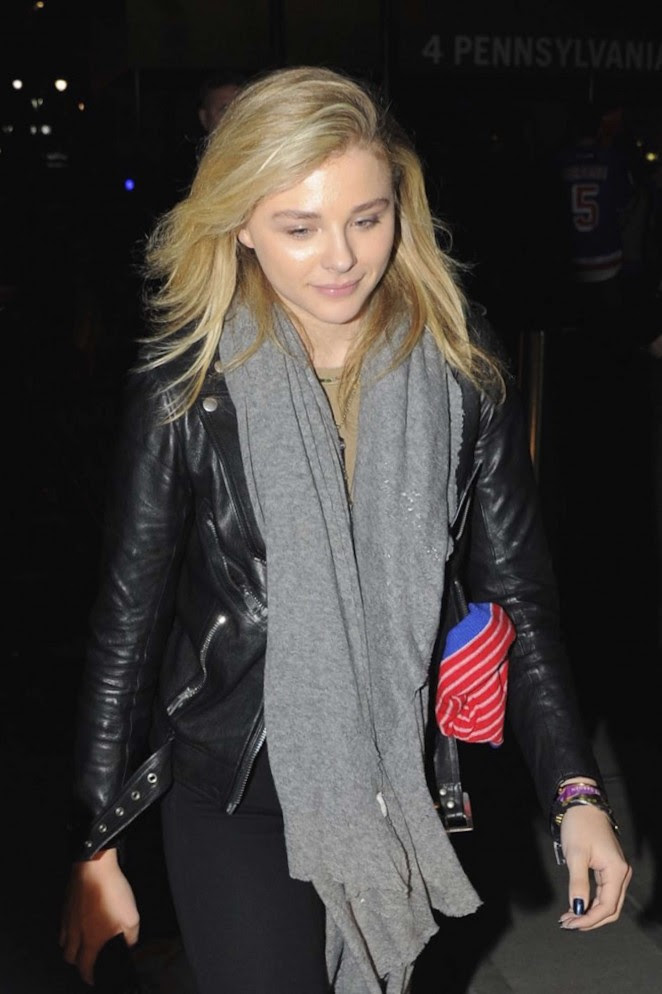 Chloe Moretz an Tights at Madison Square Garden -09