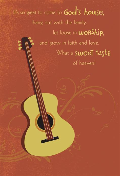 Guitar and Musical Notes Pastor Appreciation Card