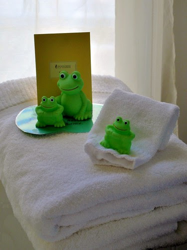 Frogs on a Towel