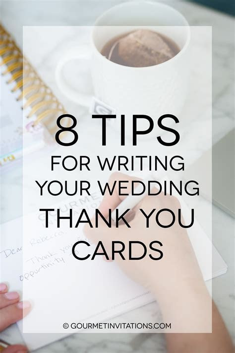8 Tips for Writing Your Wedding Thank You Cards   Gourmet