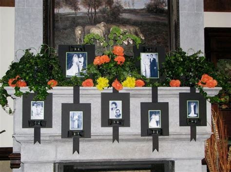 fireplace mantel decorating for a wedding love this idea