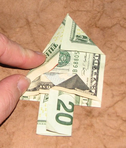 origami Money Christmas Tree 013