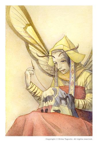Fairy Watercolor - Mending