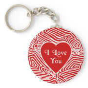 I Love You Heart Keychain keychain