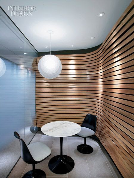 Love this curved wall with reveals