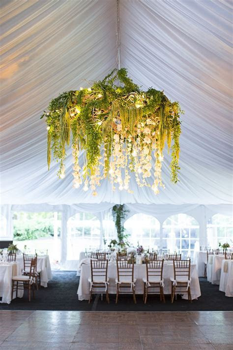 stunning greenery chandelier   Brooke Courtney Photography