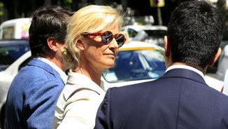 Ana Duato ha anat a declarar a l'Audiència Nacional juntament amb el seu marit, Miguel Ángel Bernardeau (EFE)