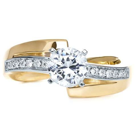 Two Tone Gold Diamond Engagement Ring #216   Seattle