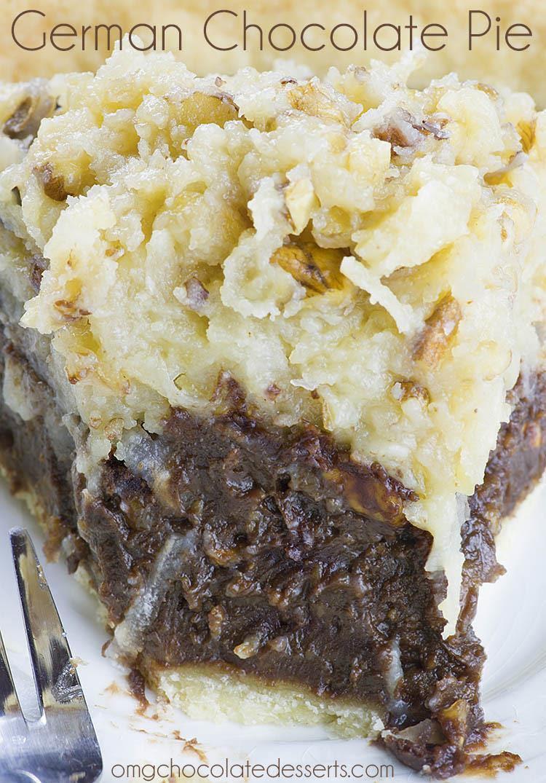 German Chocolate Pie - Chocolate Dessert Recipes - OMG ...