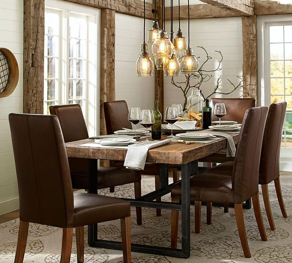 Griffin Reclaimed Wood Fixed Dining Table | Pottery Barn CA