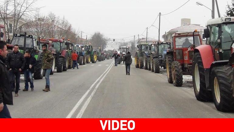 Μπλόκο των αγροτών στην Κοζάνη