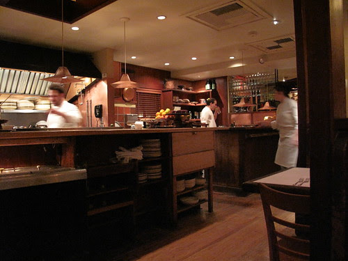 Chez Panisse Cafe - view from our table