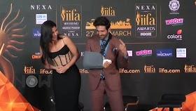 Katrina Kaif and Kartik Aaryan at the IIFA press conference