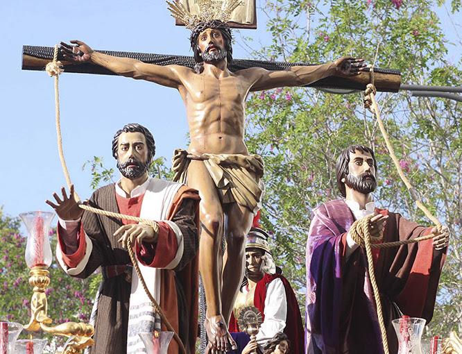 Resultado de imagen de MUY ILUSTRE, VENERABLE Y FERVOROSA HERMANDAD Y COFRADÍA DE CULTO Y PROCESIÓN DEL SANTÍSIMO CRISTO DE LA EXALTACIÓN, MARÍA SANTÍSIMA DEL CALVARIO Y SAN JUAN EVANGELISTA