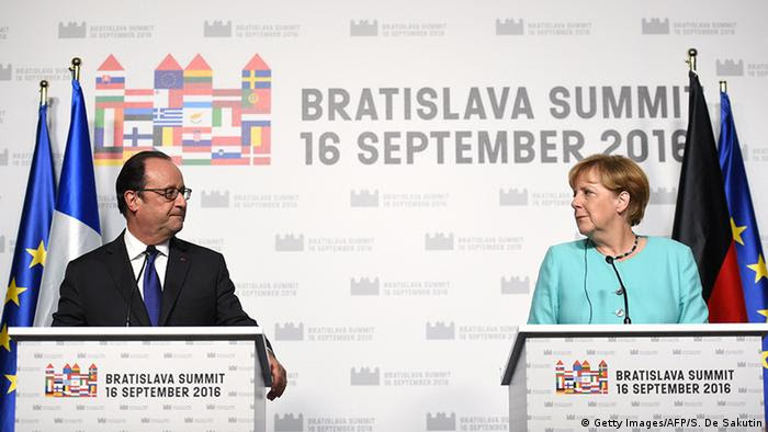 Hollande und Merkel (Foto: Getty Images/AFP/S. De Sakutin)