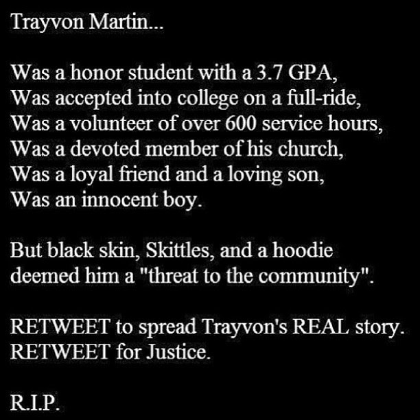 Quotes About Trayvon Martin 28 Quotes