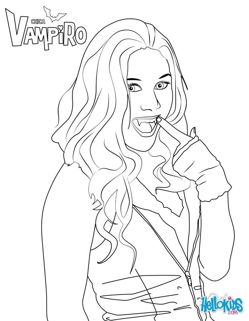 Dessus Coloriage à Imprimer Gratuit Chica Vampiro