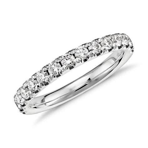 Scalloped Pavé Diamond Ring in Platinum (1/2 ct. tw